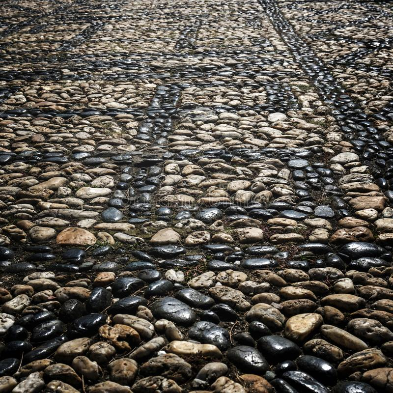Stone pavement, abstract background. royalty free stock photos