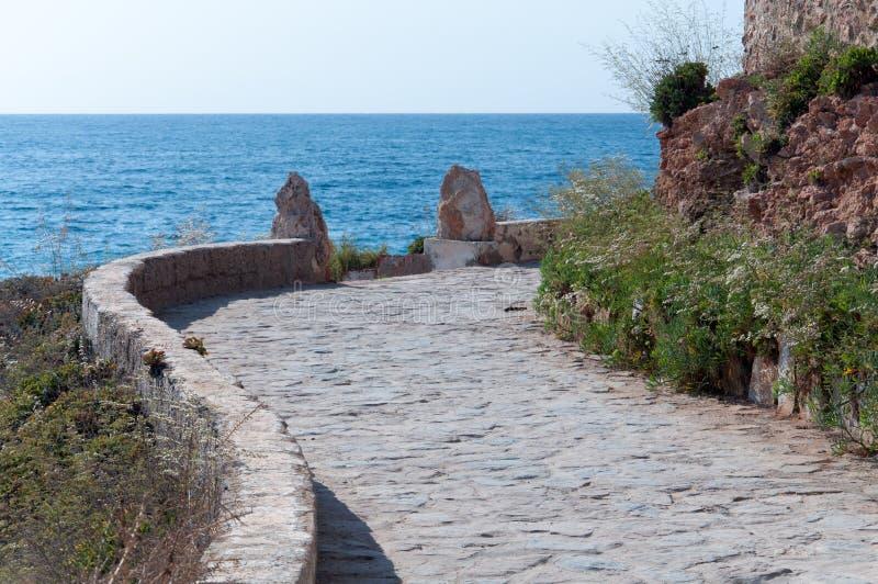 Download Stone Pavement Path Along Rocky Seashore. Stock Photo - Image: 31834220