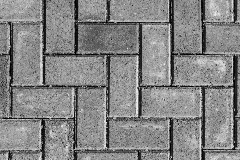 Stone paving texture. Abstract gray pavement background. stock photo