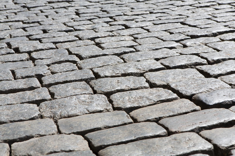 Stone paving texture. Abstract old pavement background. stock photo
