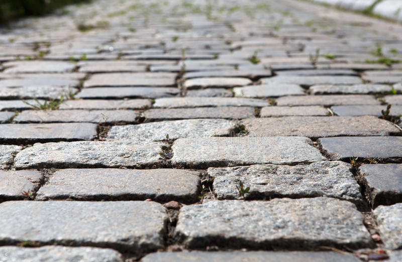 Stone paving texture. Abstract old pavement background. royalty free stock photo
