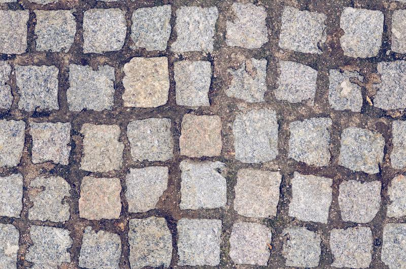 Stone paving tiles seamless texture.  stock image
