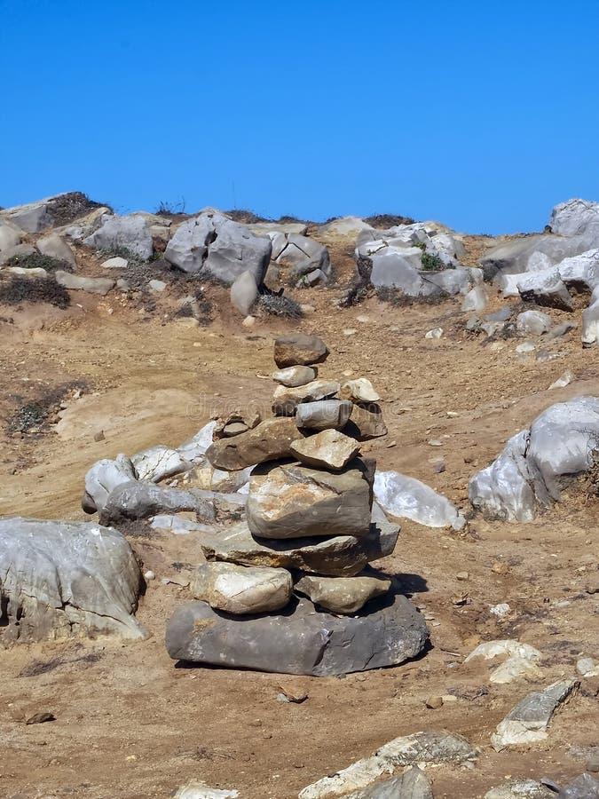 Stone pebble for balance and harmony royalty free stock photos