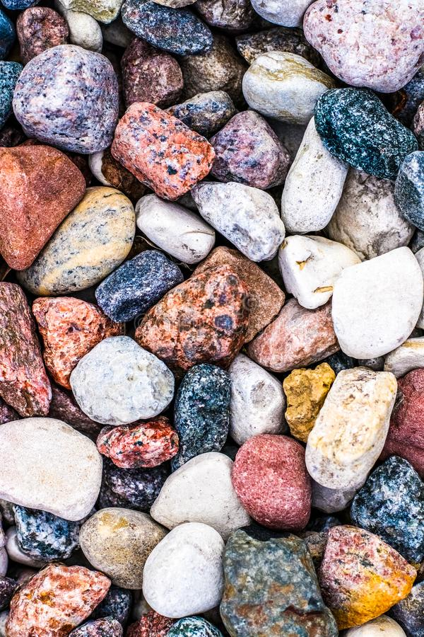 Stone pebbles background texture, landscape architecture stock images