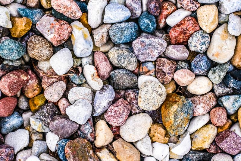 Stone pebbles background texture, landscape architecture. Landscape architecture, interior design and nature elements concept - Stone pebbles background texture royalty free stock image