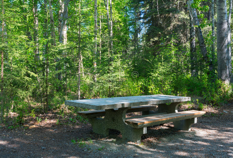 Bon Download Stone Picnic Table In Woods Stock Image   Image Of Place, Seat:  55083869