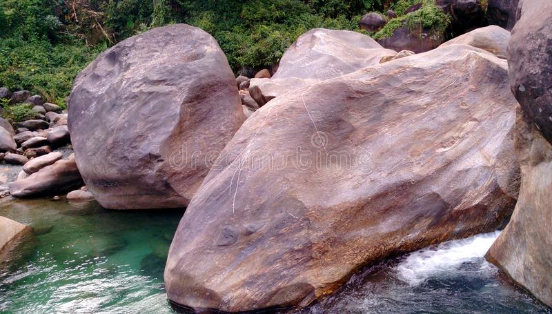 stone pieces. royalty free stock photos