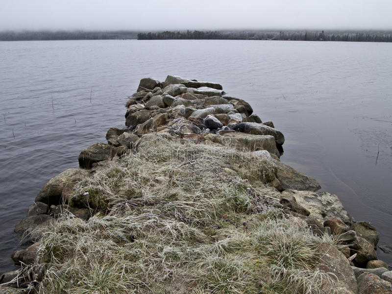 Download Stone pier stock image. Image of snowy, cols, misty, reaches - 22739187
