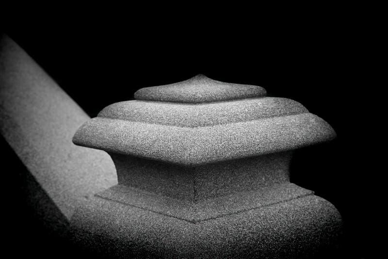 Stone pillar or column head stock photo