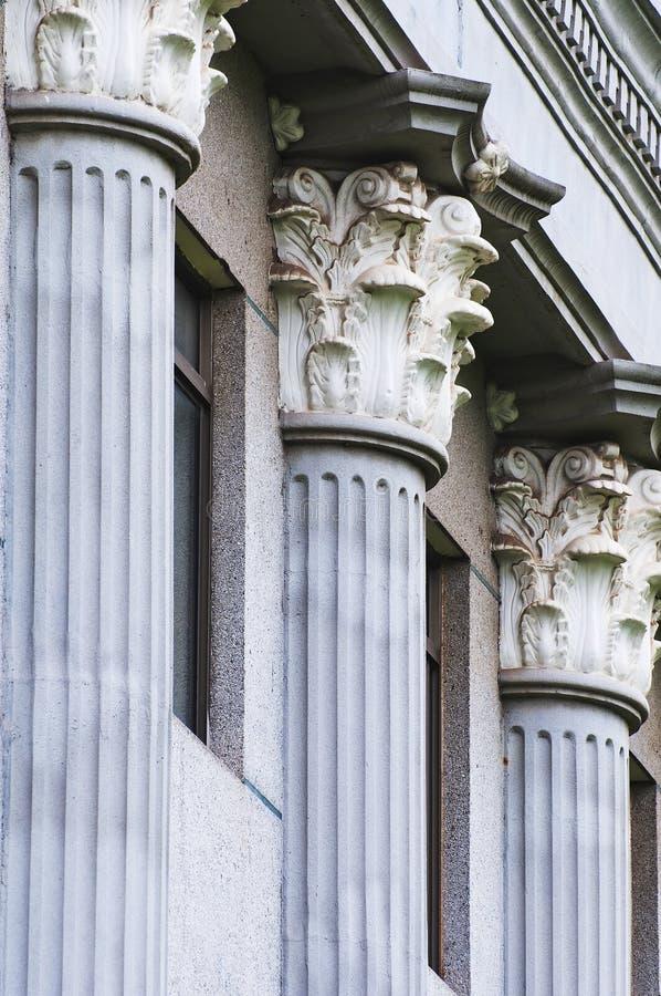 Stone Pillars stock image