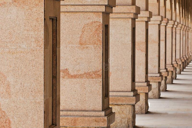 Stone Pillars. The photo is stone Pillars, close up royalty free stock photography
