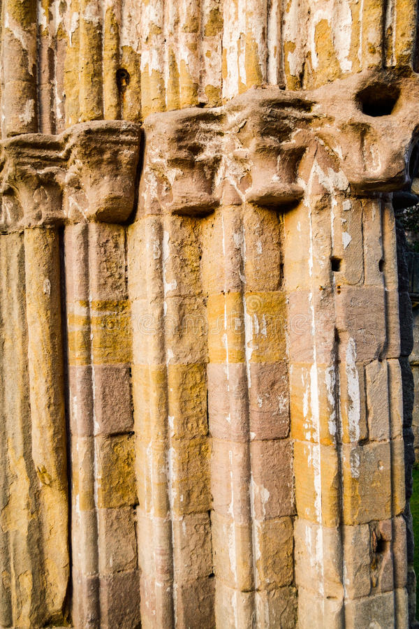 Stone Pillars. Ancient Stone Pillars Taken at Fountains Abbey royalty free stock image