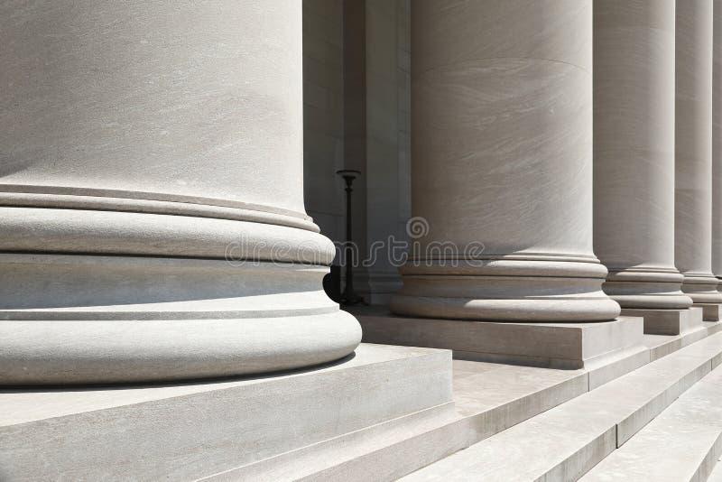 Stone pillars. Closeup view of stone pillars royalty free stock photos