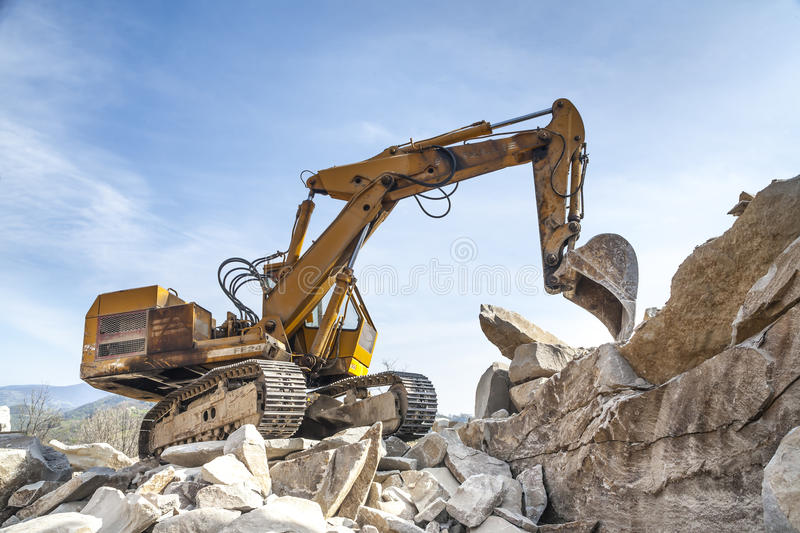 Stone pit - Quarry royalty free stock photo