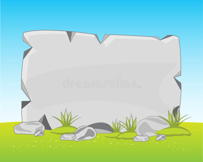 Stone plate on glade vector illustration