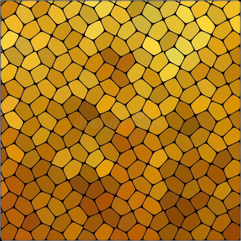 Stone plate paving pattern. Abstract geometric colorful rounded hexagon shapes ornament vector texture. stock illustration