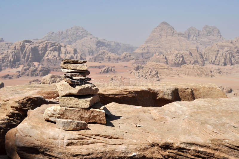 Stone pyramid royalty free stock images