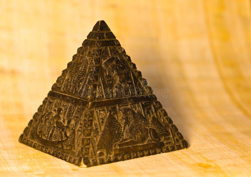 Stone Pyramid Figurine royalty free stock images