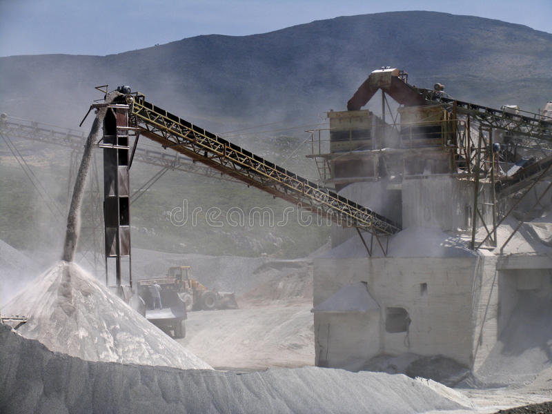 A stone quarry in action royalty free stock photography