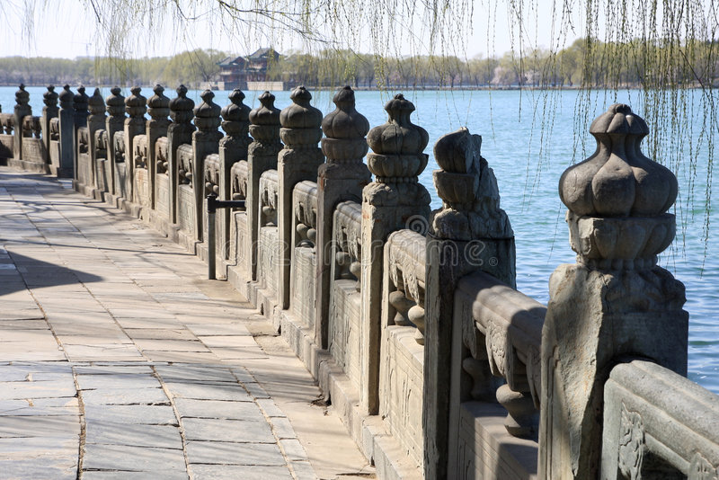 Download Stone Railing In Summer Palace Stock Image - Image: 9150347