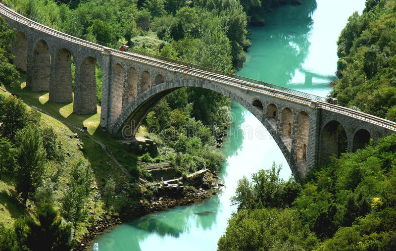 Stone railway bridge stock images
