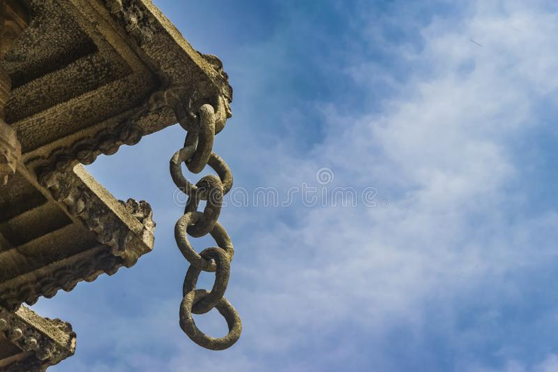 Stone Rings - Architecture inside the Sringeri Temple royalty free stock images
