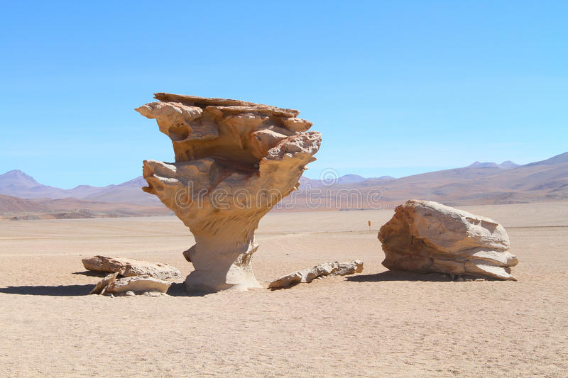 Stone rock formation in Bolivia stock image
