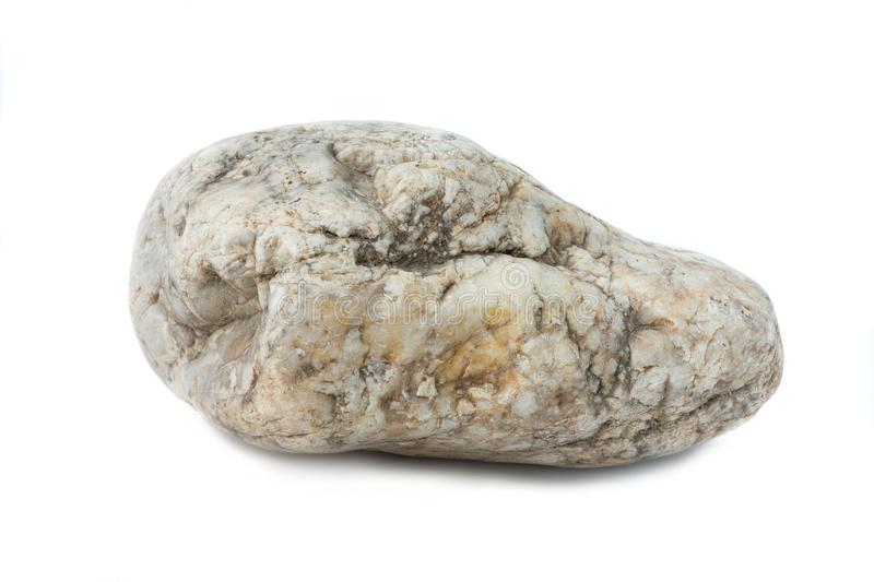 Stone rock marble river isolated white background stock photo