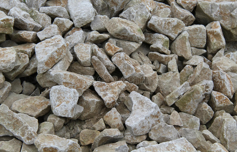 Stone Rock Pieces. A Background Image of Grey Stone Rock Pieces stock photos