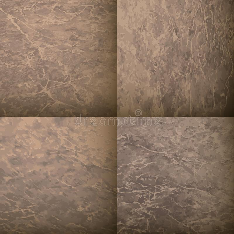 Stone rock. Vector set of textures for decoration. Background template royalty free illustration