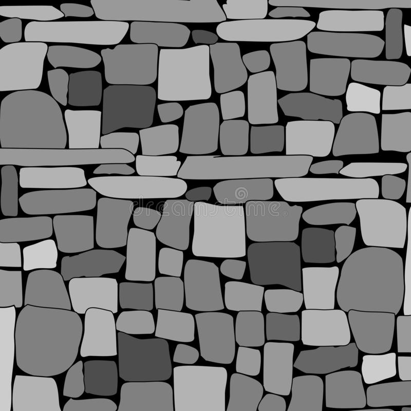 Stone rock wall background. Vector. Illustration stock illustration