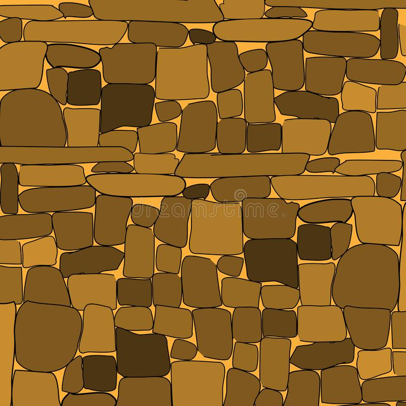 Stone rock wall retro background. Vector. Illustration royalty free illustration