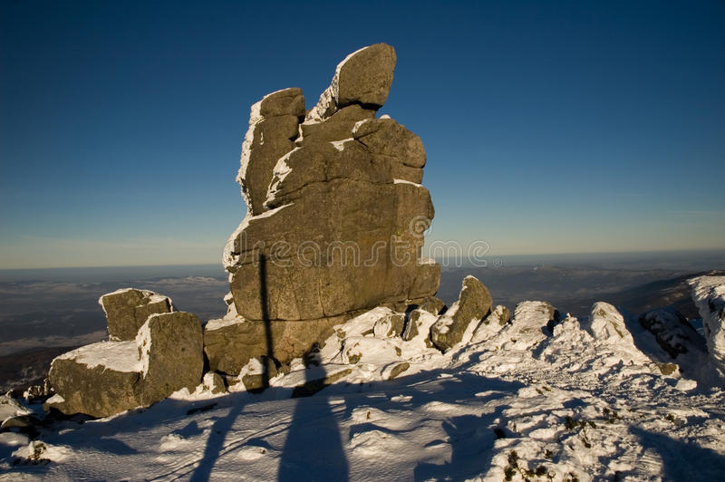 Stone rocks in sunlit royalty free stock images