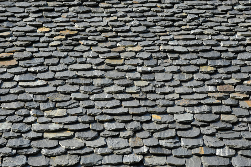 Stone roof. Detail of ancient stone roof royalty free stock photography