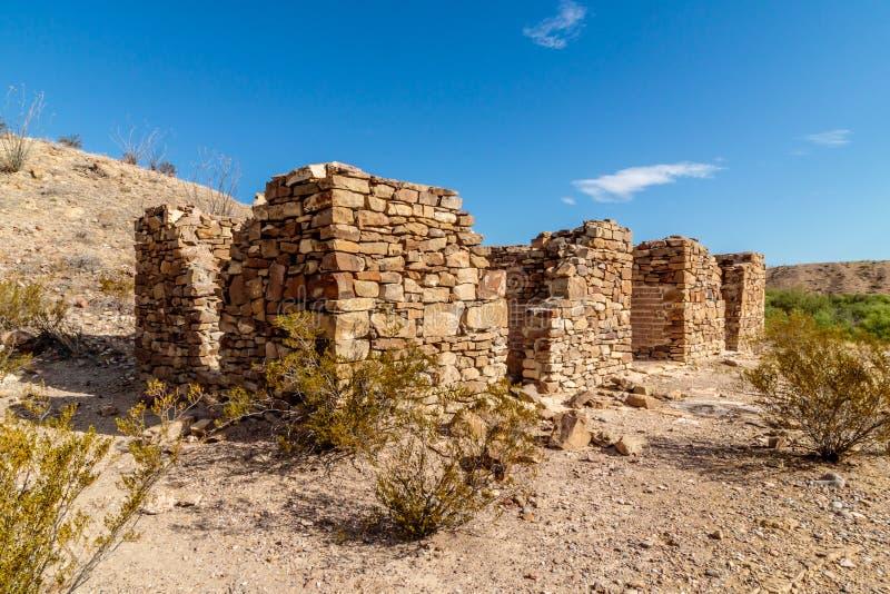 Stone Ruins Big Bend National Park stock photo