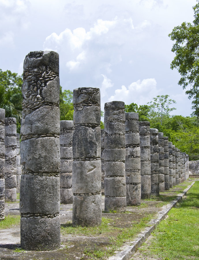 Stone ruins, Mexico royalty free stock images