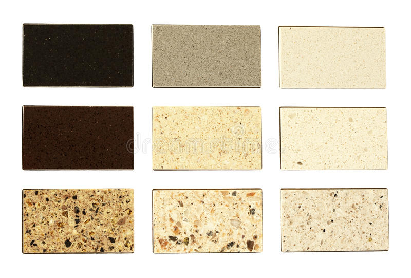 Different Colors Of Marble : Stone samples for kitchen countertops stock image