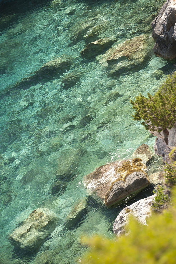 Stone sea beach stock images