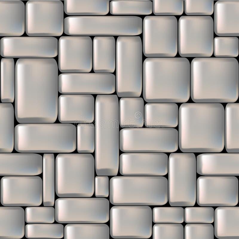 Stone seamless background. Seamless gray sleeken stone wall. Vector illustration stock illustration