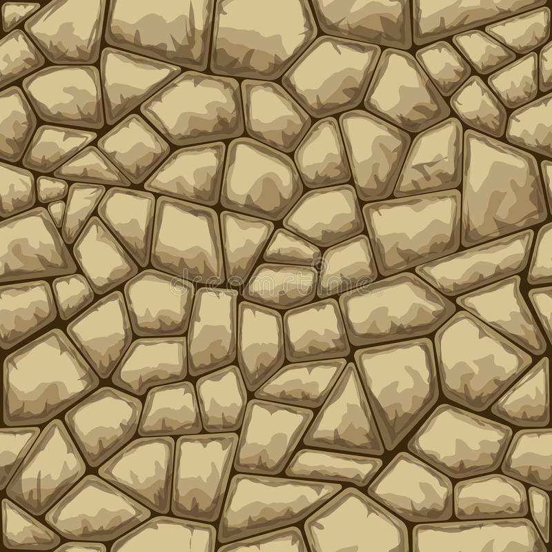 Stone seamless pattern. Simple brown stone seamless pattern. Vector illustration stock illustration