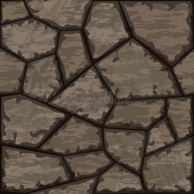 Stone seamless pattern. Vector illustration of brown stone seamless pattern royalty free illustration