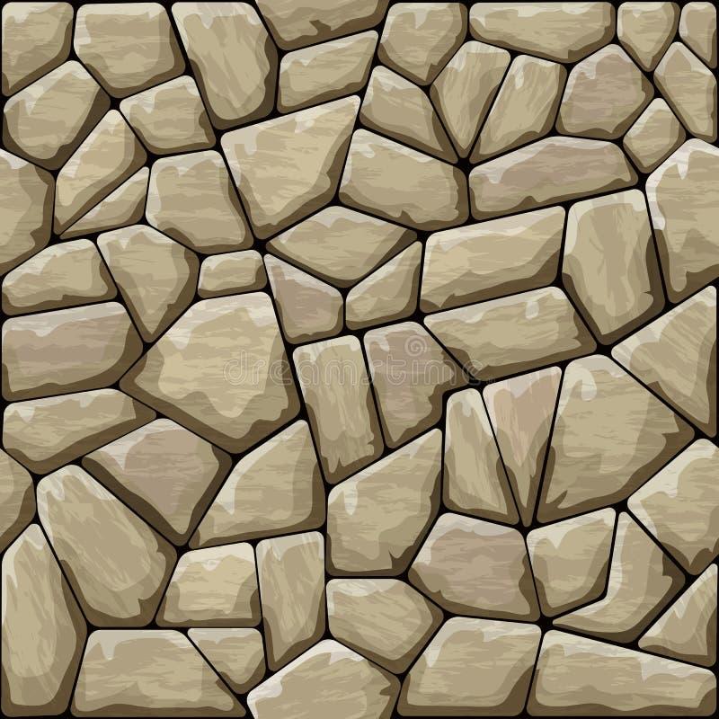Stone seamless pattern. Vector illustration of brown stone seamless pattern stock illustration