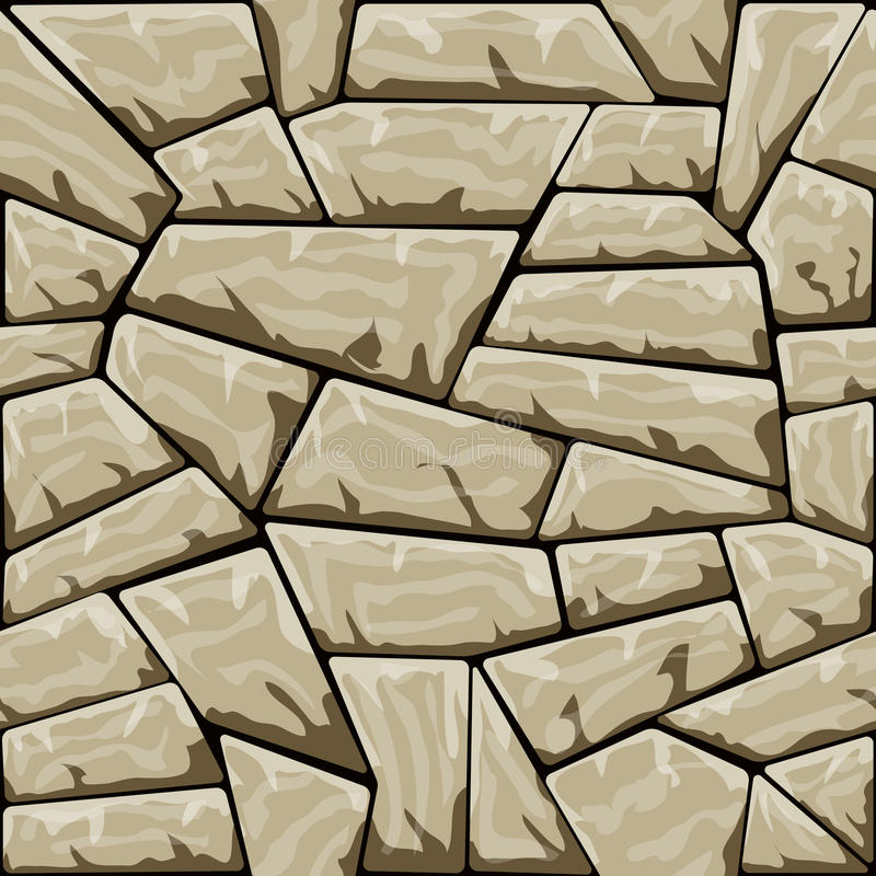 Stone seamless pattern. Vector illustration of brown stone seamless pattern stock illustration