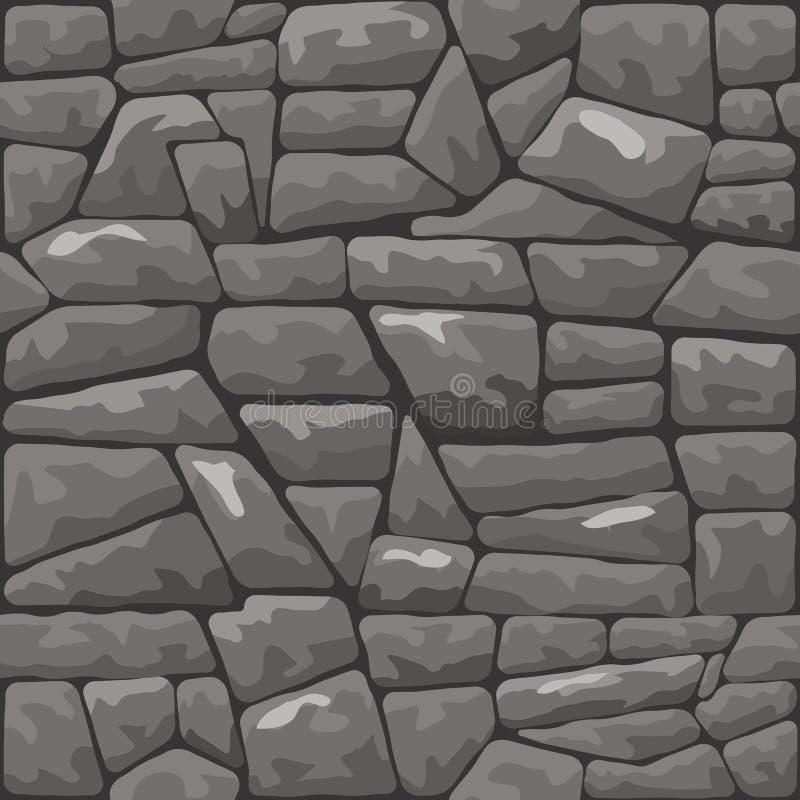 Stone seamless pattern. Vector illustration of grey stone seamless pattern vector illustration