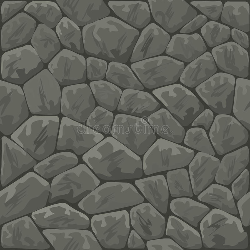 Stone seamless pattern. Vector illustration of grey stone seamless pattern royalty free illustration