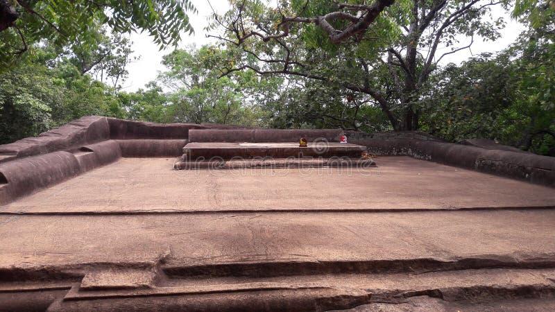 Stone seat the kingdom of sigiriya. stock photo