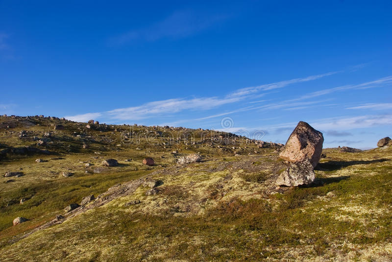 Stone Seids  On A Ridge Musta Tunturi Royalty Free Stock Photos