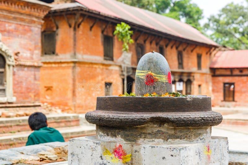 Stone shiva lingam royalty free stock photo