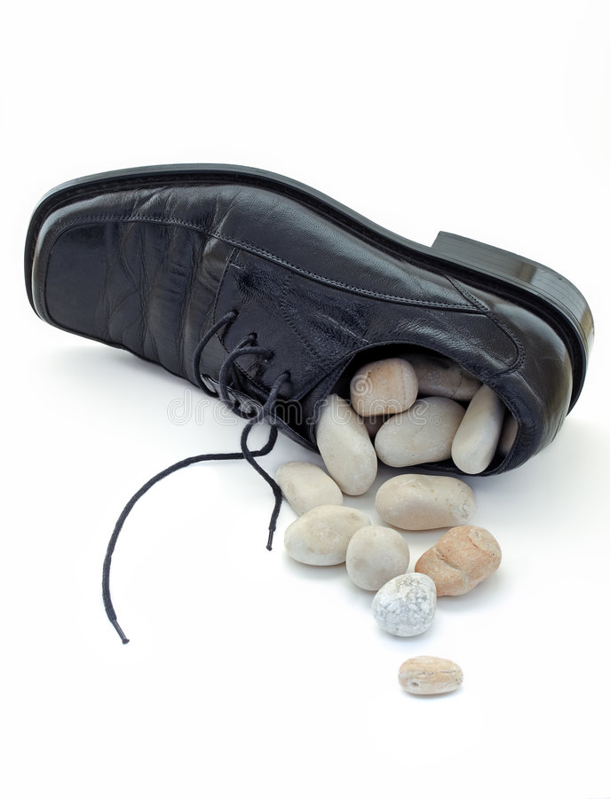 Stone In The Shoe Royalty Free Stock Image