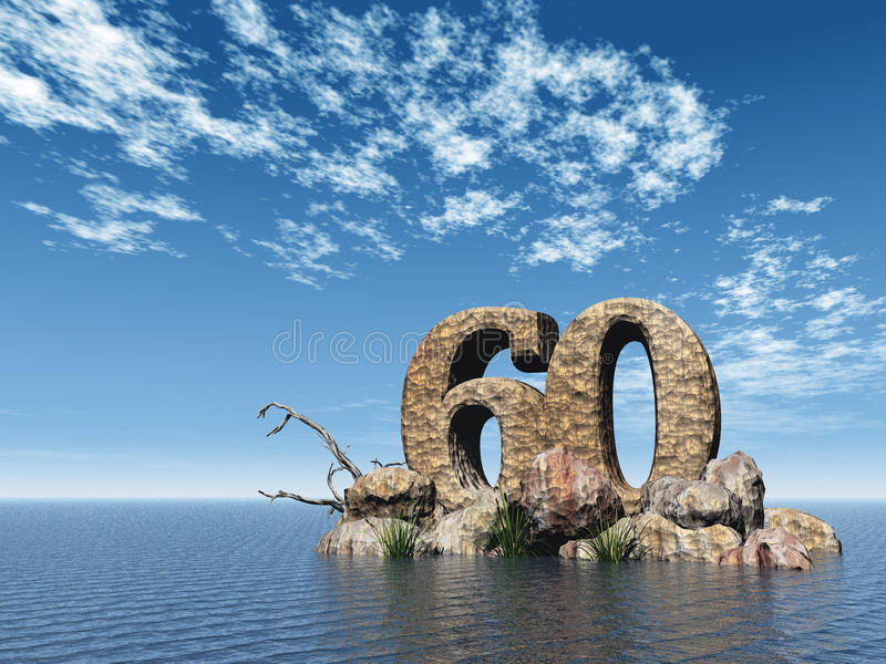 Download Stone sixty stock illustration. Image of water, reed - 25088839